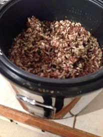 Crock pot rice and quinoa